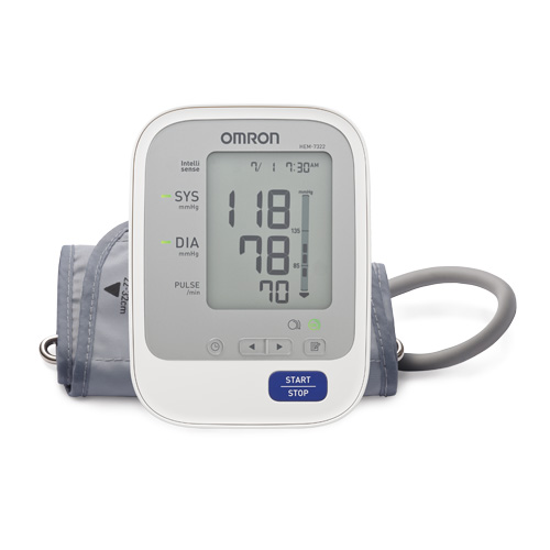 Omron HEM-7322-AP Automatic Blood Pressure Monitor White